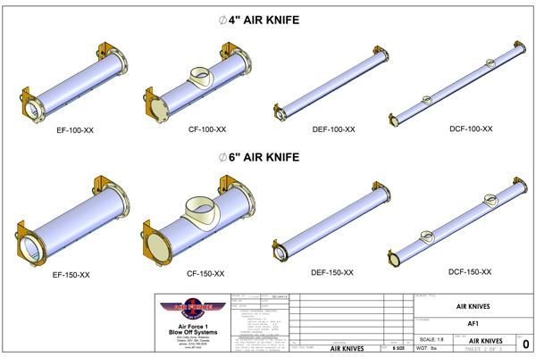Air Force 1 air knives drawing