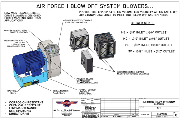 Air Force 1 blower system components drawing